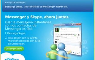 Messenger se fusiona con Skype