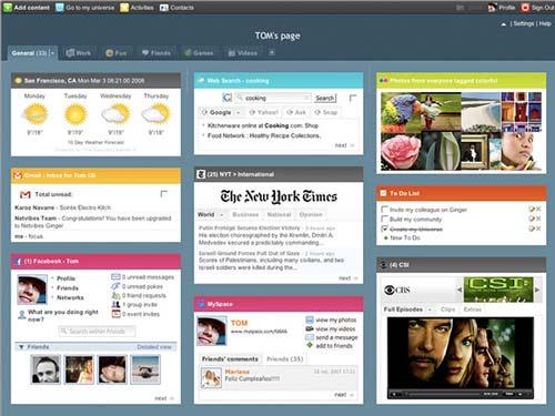 Netvibes para personalizar página de inicio