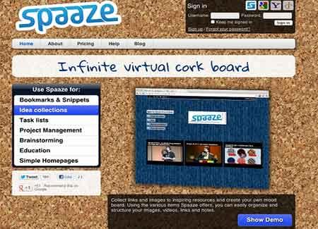 Spaaze para personalizar páginas de inicio