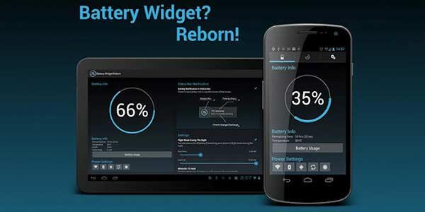 Aplicaciones para ahorrar batería - Battery Widget Reborn