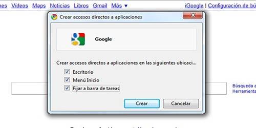 Trucos para Google Chrome: Crear Acceso directo