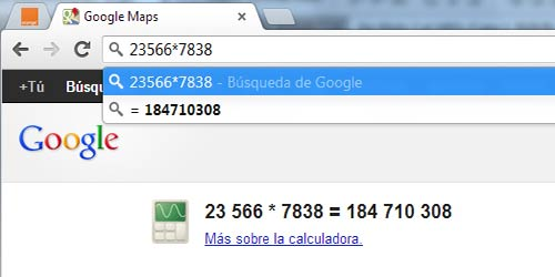 Trucos para Google Chrome: Calculadora