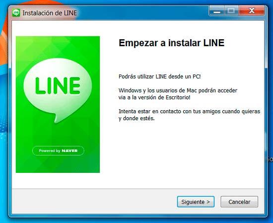 Instalar Line para ordenador