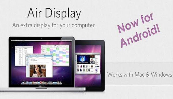 Utilizar un tablet como monitor secundario con AirDisplay
