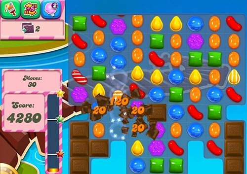 Eliminar el chocolate en Candy Crush